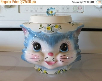 ON SALE Lefton Miss Priss Kitten Cookie Jar