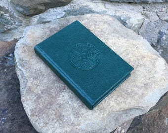 Green Leather Journal, Celtic journal, notebook or sketchbook