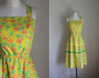 vintage 1970s novelty print dress - THE LILLY pulitzer butterfly print dress / XS-S