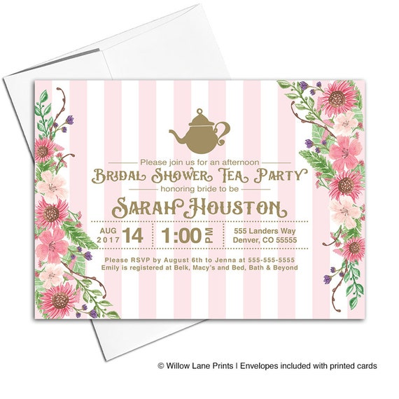 Garden bridal shower tea party invitation high tea bridal shower il570xn filmwisefo