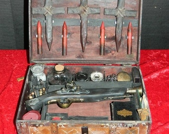 Vampire Killing Kit with Pistol ORIGINAL by CRYSTOBAL, the artist who created this style, Slayer Kit Dracula Buffy, This is the REAL Deal.