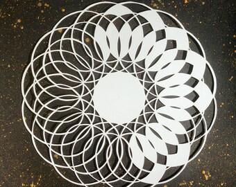 Original paper cut mandala - La Luna Eclipse