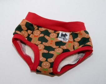 Gingerbread Men Cloth Training Pants - Training Undies - 18 months to 4t