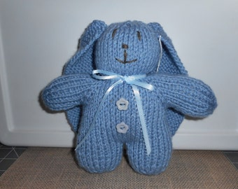 Blue Bunny, Blue Easter Bunny, Luxury Lop Eared Bunny, Child's Easter Bunny Toy