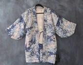Silk Kimono Handmade Japanese Duster Jacket Padded Jacket Ladies S/M
