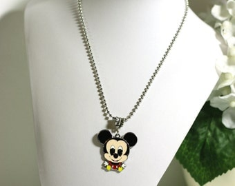 Large Mickey Mouse Charm Pendant Necklace - Kids Jewelry, video game necklace