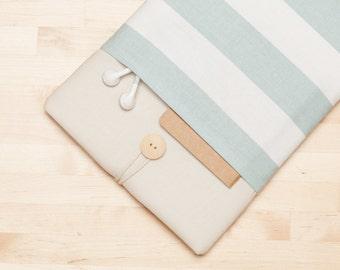 iPad Pro 12.9 case, 12.9 inch iPad Pro sleeve, 12.9 inch iPad Pro case,  iPad Pro cover - Cream stripes