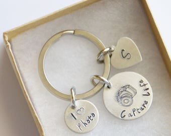 Photographer Gift, Capture Life Keychain, I Heart Photo Keychain, Personalized Keychain, Gift for Friend, Photography Keychain, Travel Gift