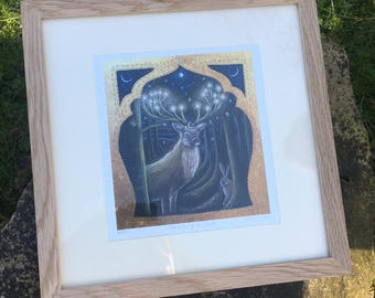The light of the Forest oak framed signed limited edition print