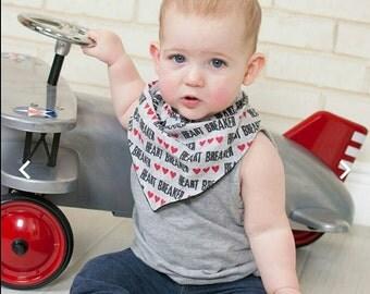 Baby Bandana Bib - Baby Boy Bandana Bib - Toddler Drool Bib - Valentines Day Baby Bib - Baby  Bandana Bib - Baby Gift Set - Dribble Bib