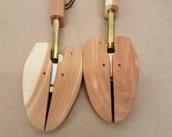 Vintage Pair of Adjustable Wooden Shoe Stretchers