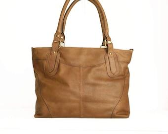 Tan Leather Tote Bag Leather Handbag Leather Tote Bag Leather Crossbody Bag Purse Leather Tote bag Leather Messenger Tote bag Nora Bis L!