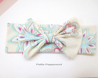 Baby Headband, Baby Head Band, Baby Head Wrap,Baby Bow Headband, Infant Headband, Messy Bow Headband, Bow Knot Headband, Toddler Head Wrap