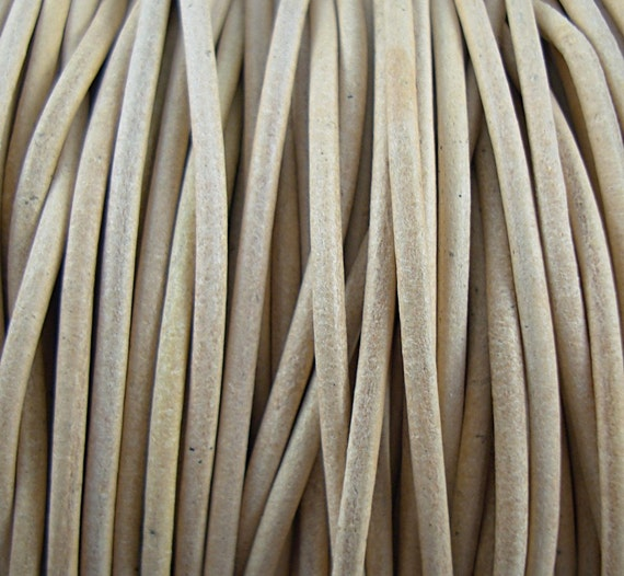 2mm Natural Leather Cord Distressed Leather Round Cord