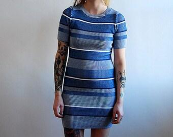 vintage 90's striped knit dress