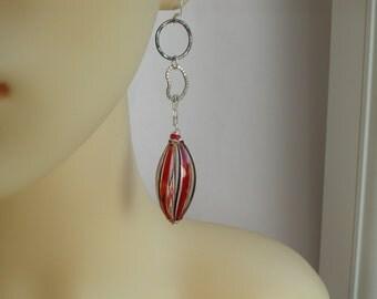Long Blown Murano Glass Earrings