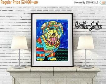 50% Off Today- Glen of Imaal Terrier art dog  Art Print Poster by Heather Galler (HG481)