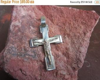 On Sale Vintage  Sterling Silver Pendant Cross crucifix