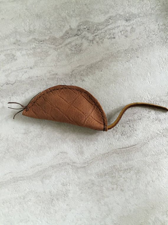 Handmade Leather Organic Catnip Mouse