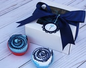 Baby boy shower gift idea / Baby boy burp cloths / Baby cupcakes
