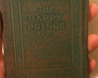 THE HAPPY PRINCE and other tales by Oscar Wilde - Miniature Book Little Leather Library 1920s Antique Vintage