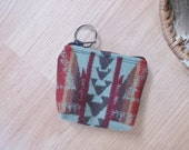Medicine Bag, Keychain, Coin, Zipper Change Purse, Gift Card Holder Shonto Southwest Leather Tassel or Beads 4 x 4