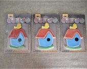 Birdhouse & Bird Ceramic Tile Inlay Ceramic Tile Bird and Bird House for Stepping Stone or Mosaic DeStash Craft Supply
