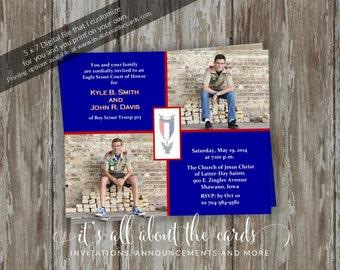 Eagle Scout Court of Honor Invitations - Celebrate - Digital file