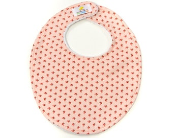 Apricot Blossoms Boutique Bib - New Baby Gift, Personalized Baby Gift, New Baby Girl