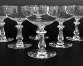 SALE 2 Crystal Coupe Glasses Coupe Champagne Glasses Val St Lambert Crystal Stemware