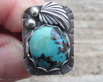 Turquoise Sterling Silver Ring - Size 6