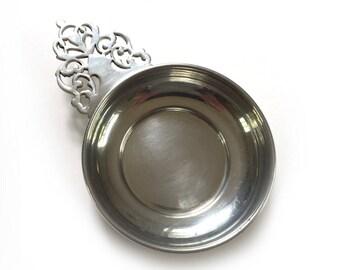 Colonial Polished Pewter Porringer Bowl