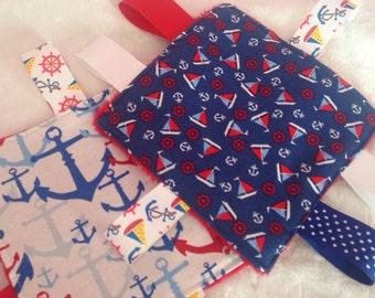 Nautical Anchor Sailboat Baby Set Crinkle Toy