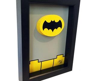 Batman 1966 TV Show Bat Symbol Uniform Logo 3D Pop Art comic Artwork Adam West