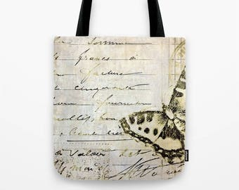 TOTE BAG golden butterfly postale