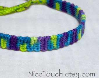 SUMMER SALE!!! Free Shipping or Save 20% ~ Summertime Splash knotted cotton friendship bracelet ~ Made to Order