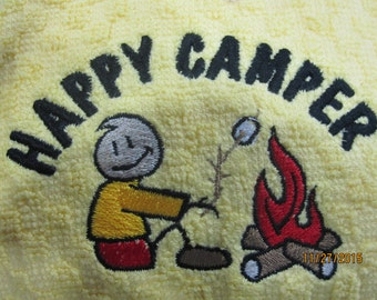 rv there yet kitchen towel with little camper guy.Comes in red check or black check. Sorry out of white at moment.