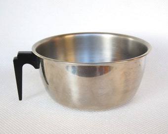 Vintage Vollrath Stainless Steel Mixing Bowl with Black Handle Model number 6953