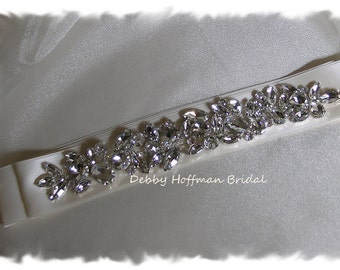 Crystal Bridal Sash, Rhinestone Wedding Dress Sash, Jeweled Wedding Belt, Rhinestone Encrusted Bridal Belt, Rhinestone Belt, No 6010S1.5