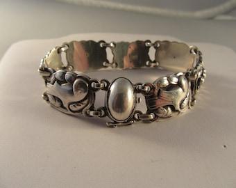 Vintage 1930s-1940s Georg Jensen #24 Sterling Bird Bracelet
