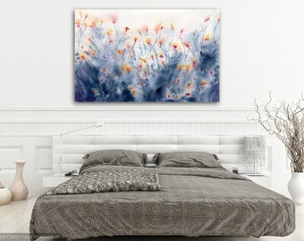 Floral Watercolor Painting - Wildflowers Art Print Wall Art Home Decor