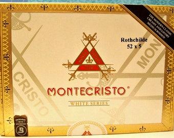Cigar Box - empty box for crafting - Montecristo - Rothchilde