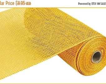 18% OFF 10 Inch Yellow Poly Burlap Mesh RP810029, Deco Mesh Supplies