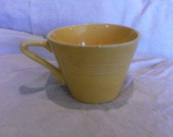 Vintage Yellow Harlequin Cup