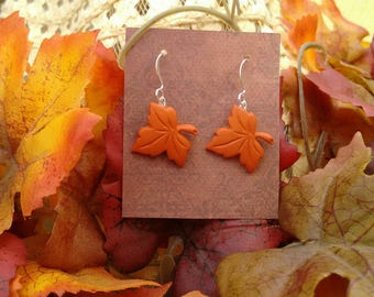 Thanksgiving earrings fall earrings fall leaf earrings fall leaves holiday earrings brockus creations