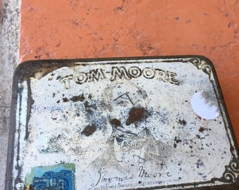 Vintage Tom Moore Cigar tin