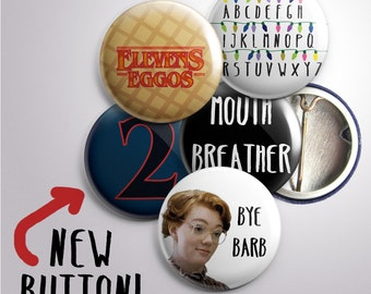 Stranger Things Inspired Buttons