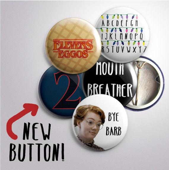 Stranger Things Inspired Buttons