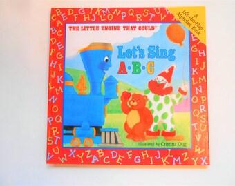 Let's Sing A-B-C, The Little Engine That Could Lift the Flap Alphabet Book, a Vintage Children's ABC Book