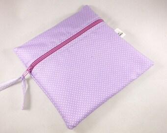 Wet Bag Cloth Pad Wet Bag Tiny Lavendar Dots